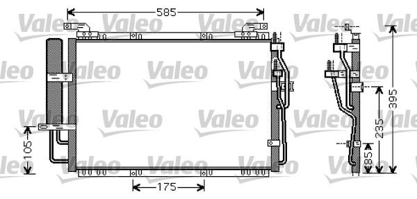 Kondenzátor klimatizace VALEO 818075