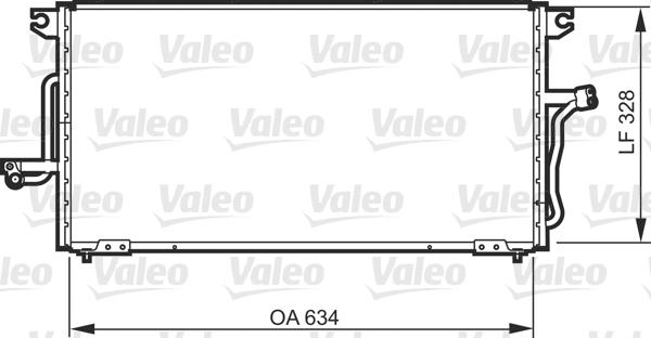Kondenzátor klimatizace VALEO 818081