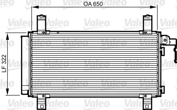 Kondenzátor klimatizace VALEO 818090
