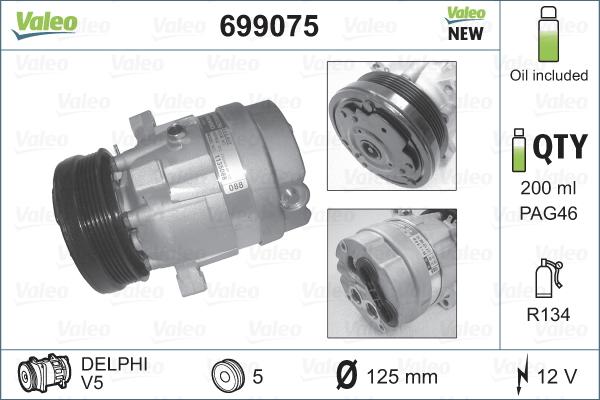 Kompresor klimatizace VALEO 699075