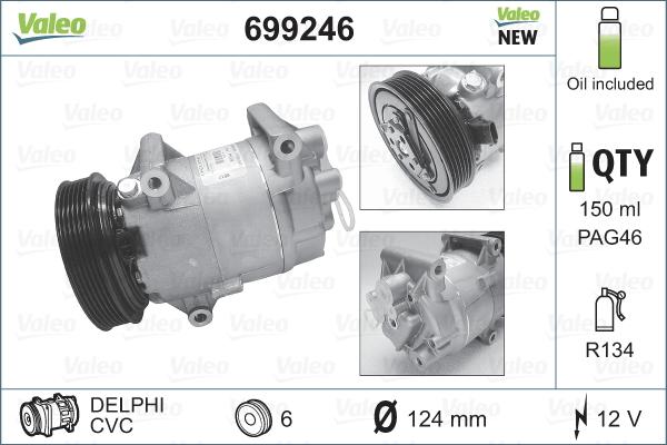 Kompresor klimatizace VALEO 699246
