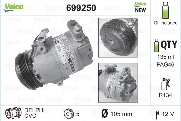 Kompresor klimatizace VALEO 699250