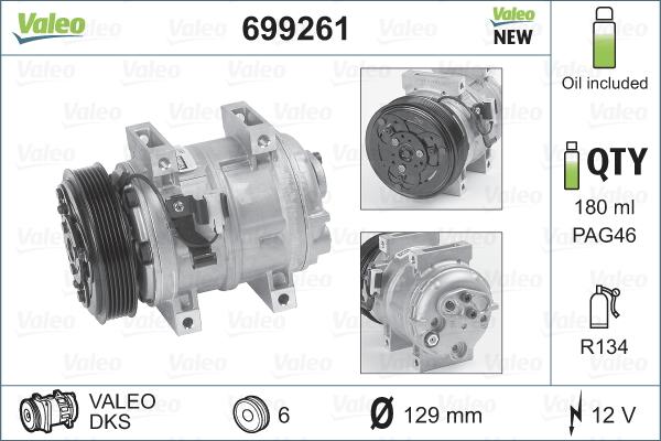 Kompresor klimatizace VALEO 699261
