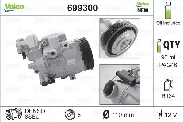 Kompresor klimatizace VALEO 699300