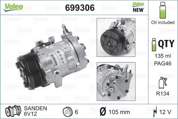 Kompresor klimatizace VALEO 699306