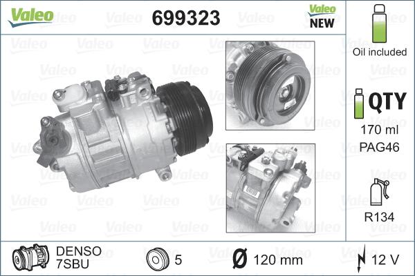 Kompresor klimatizace VALEO 699323