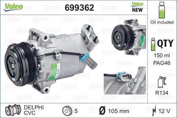 Kompresor klimatizace VALEO 699362