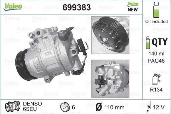 Kompresor klimatizace VALEO 699383