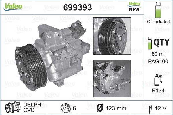 Kompresor klimatizace VALEO 699393