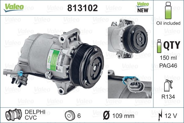 Kompresor klimatizace VALEO 813102