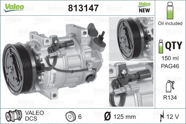 Kompresor klimatizace VALEO 813147