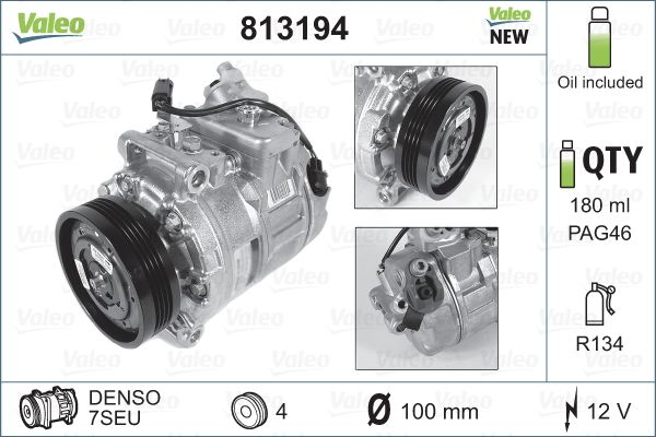 Kompresor klimatizace VALEO 813194