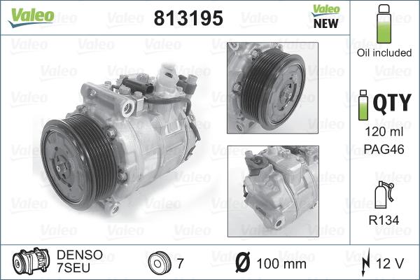 Kompresor klimatizace VALEO 813195