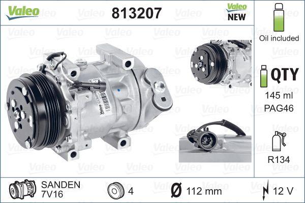 Kompresor klimatizace VALEO 813207