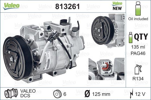 Kompresor klimatizace VALEO 813261