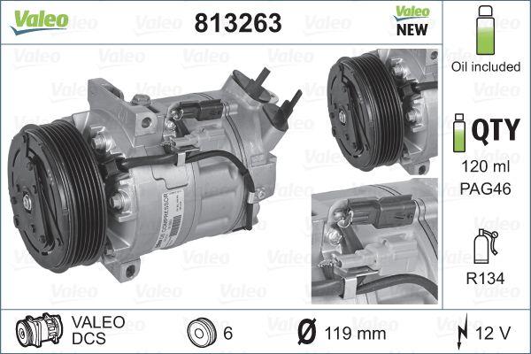 Kompresor klimatizace VALEO 813263