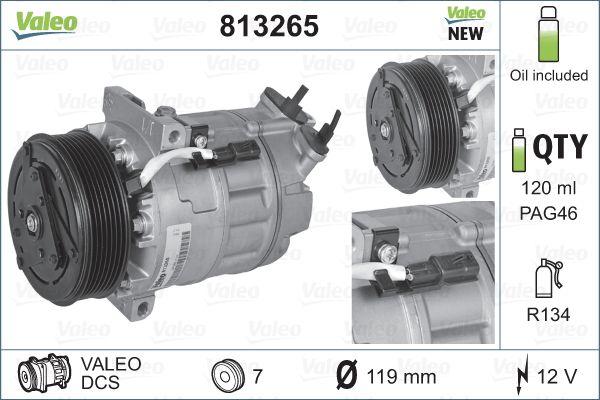 Kompresor klimatizace VALEO 813265