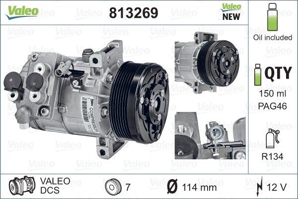 Kompresor klimatizace VALEO 813269