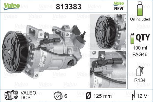 Kompresor klimatizace VALEO 813383