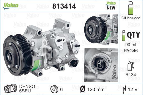 Kompresor klimatizace VALEO 813414