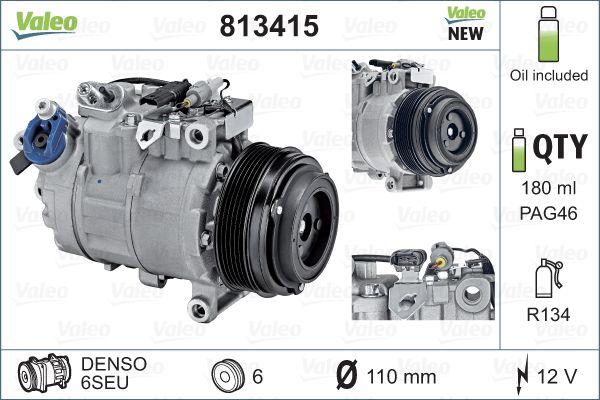 Kompresor klimatizace VALEO 813415