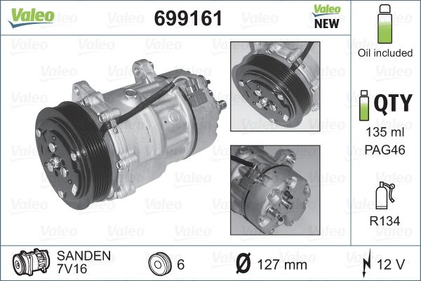 Kompresor klimatizace VALEO 699161