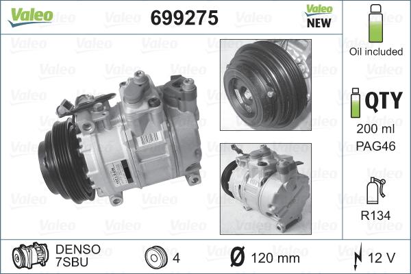 Kompresor klimatizace VALEO 699275