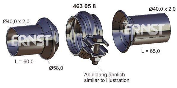 Opravná sada, výfukové potrubí ERNST 463058