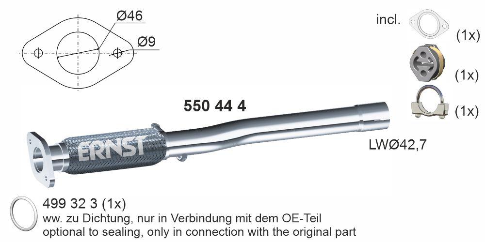 Pružný díl výfuku ERNST 550444
