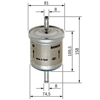 Palivový filtr BOSCH 0 450 905 095