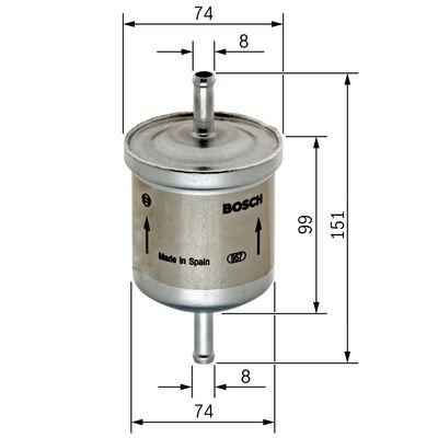 Palivový filtr BOSCH 0 450 905 201