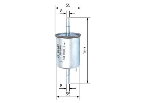 Palivový filtr BOSCH 0 450 905 969