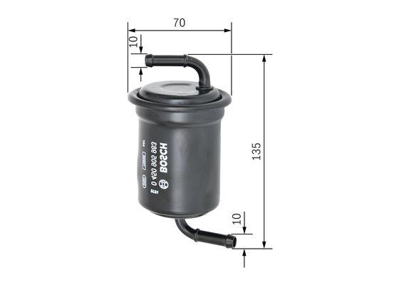 Palivový filtr BOSCH 0 450 905 983