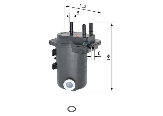 Palivový filtr BOSCH 0 450 907 008