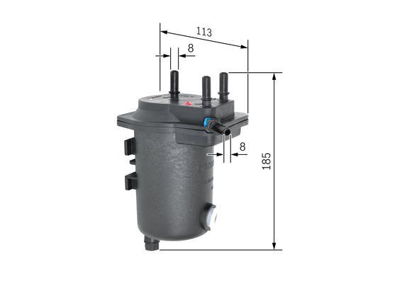 Palivový filtr BOSCH 0 450 907 009
