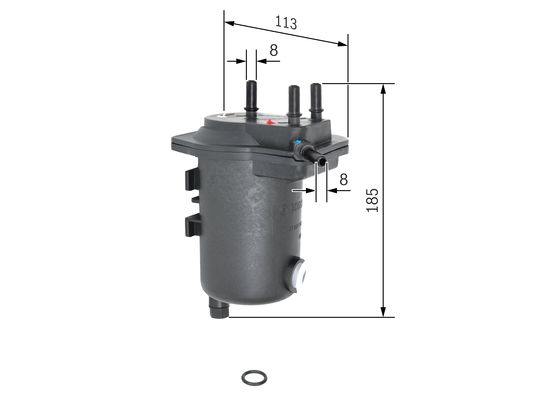 Palivový filtr BOSCH 0 450 907 012
