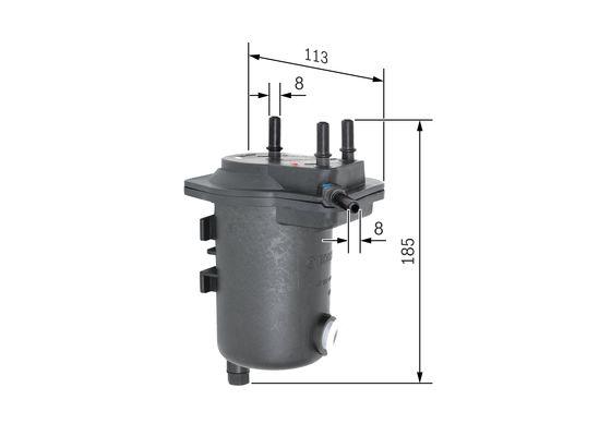 Palivový filtr BOSCH 0 450 907 014