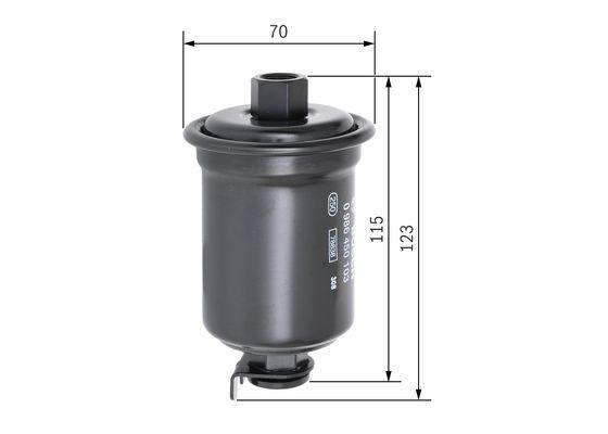 Palivový filtr BOSCH 0 986 450 103