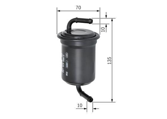 Palivový filtr BOSCH 0 986 450 105