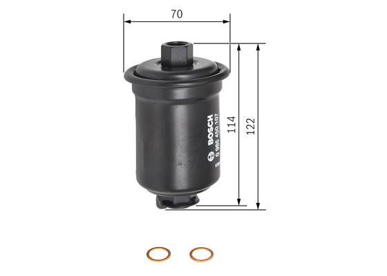 Palivový filtr BOSCH 0 986 450 107