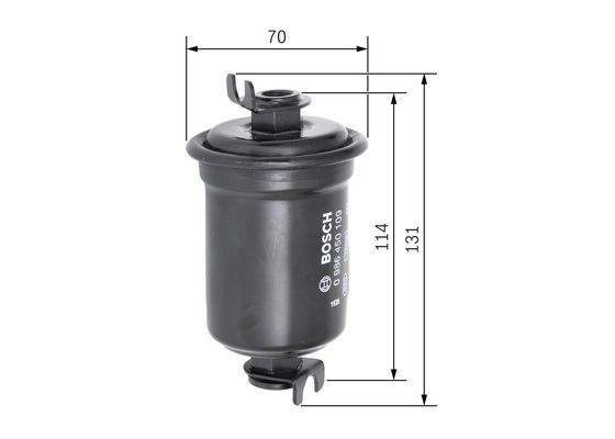 Palivový filtr BOSCH 0 986 450 109