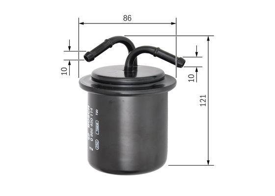 Palivový filtr BOSCH 0 986 450 114