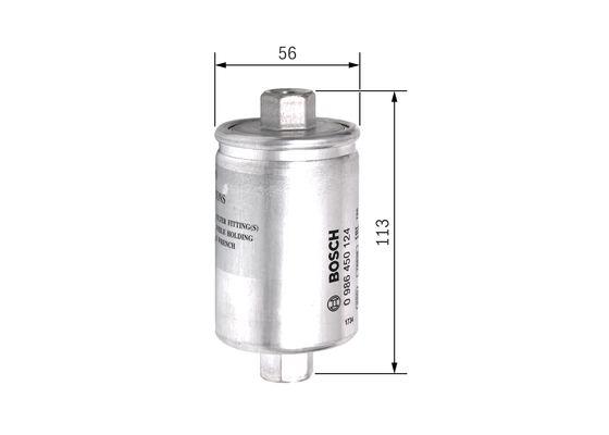 Palivový filtr BOSCH 0 986 450 124