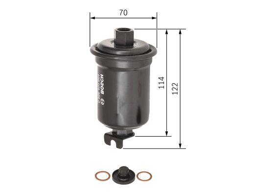 Palivový filtr BOSCH 0 986 450 604