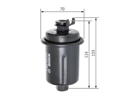 Palivový filtr BOSCH 0 986 450 624