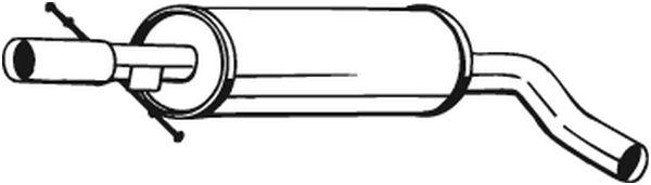 Střední díl výfuku BOSAL 105-111