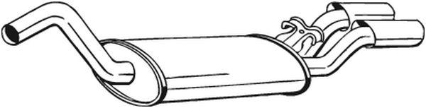Zadní tlumič výfuku BOSAL 105-127