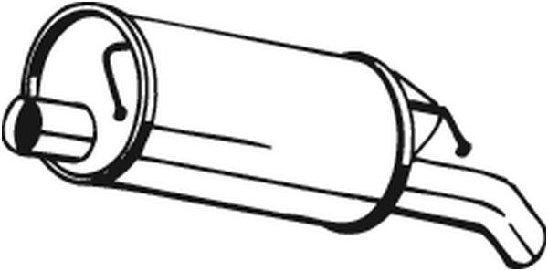 Zadní tlumič výfuku BOSAL 105-137
