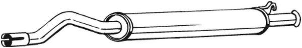 Střední díl výfuku BOSAL 105-159
