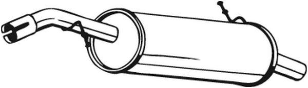 Zadní tlumič výfuku BOSAL 135-015